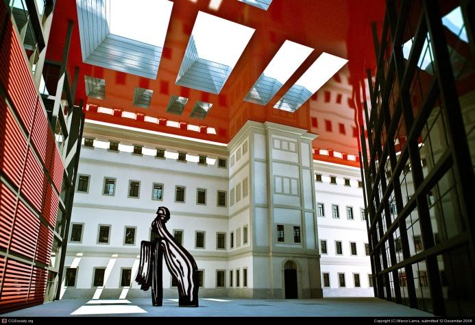 museo reina sofia interior patio edificio nouvell
