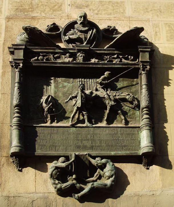 placa  calle atocha 87 colocada en el tercer centenario del quijote.jpg