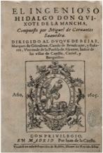 primera edicion del quijote
