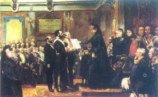 5. Doña Virtudes - Maria Cristina jurando la Constitucion