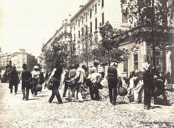 pavimentacion de la calle alcala 1900