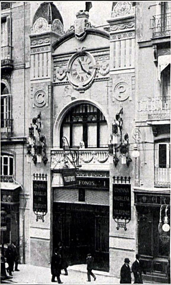 calle alcala 1 compañia peninsular de telefonos 1911