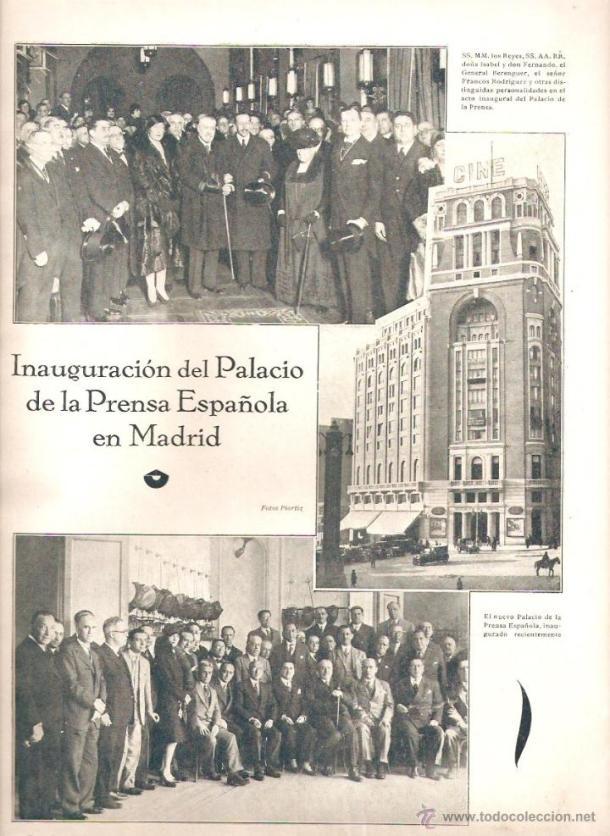 PALACIO DE LA PRENSA INAUGURACION