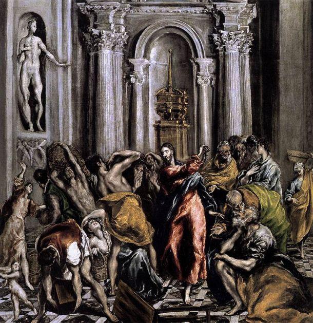 san gines la purificacion del templo 1610 el greco