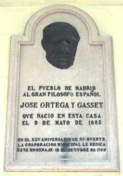 cartela conmemorativa del nacimiento de ortega y gasset