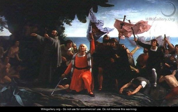 puebla-tolin_the-first-landing-of-christopher-columbus-in-america-1862
