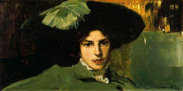 sorolla-maria-con-sombrero