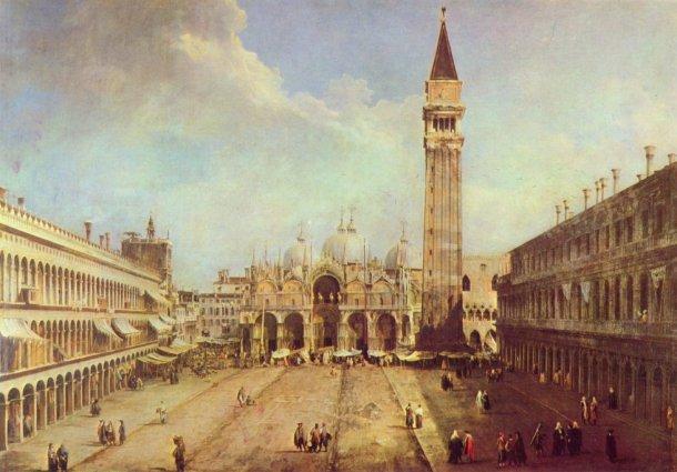 la plaza de san marcos venecia canaletto museo thyssen